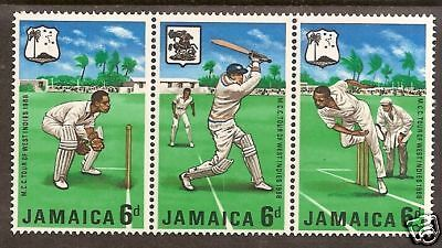 JAMAICA 1968 MCC CRICKET TOUR WEST INDIES Strip 3v MNH