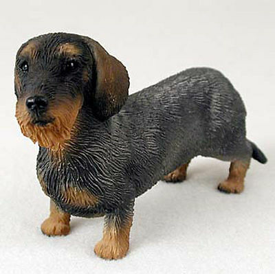 Dachshund Figurine Hand Painted Collectible Statue Wirehaired