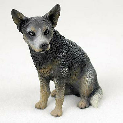 Australian Cattle Hand Painted Collectible Dog Figurine Blue