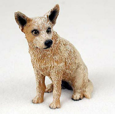 Australian Cattle Hand Painted Collectible Dog Figurine Red