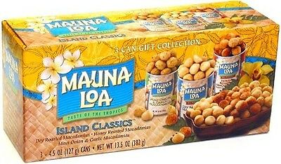 Island Classics Mauna Loa Macadamia Nuts 3 Can Gift Collection