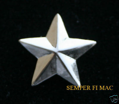TWO PINs 1 ONE STAR BRIGADIER GENERAL US AIR FORCE ARMY MARINES COLLAR PIN WOW