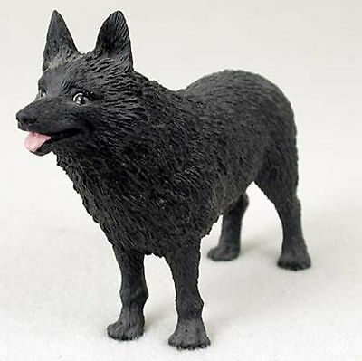 Schipperke Hand Painted Collectible Dog Figurine