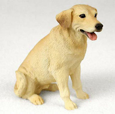 Yellow Lab Figurine Hand Painted Collectible Statue