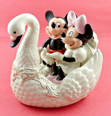 Lenox Disney Romance Under the Stars with Mickey Mouse Minnie Swan Love NEW