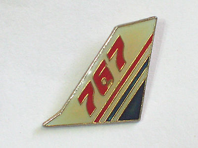 Vintage Boeing 767 Aircraft Tail Piece Pin