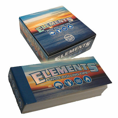 50 ELEMENTS WIDE FILTER PREMIUM TIPS 100% Chemical & Chlorine Free Rolling Tips