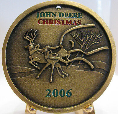 John Deere 2006 Limited Edition Spec Cast Deer Christmas Ornament Bronze NIB  jd