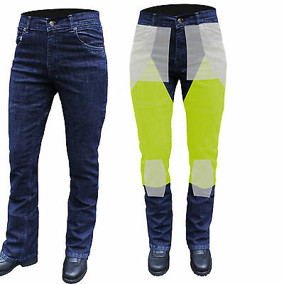 NEW DENIM WOMENS STRETCH MOTORCYCLE FULLY REINFORCED WITH DuPont™ KEVLAR® 18