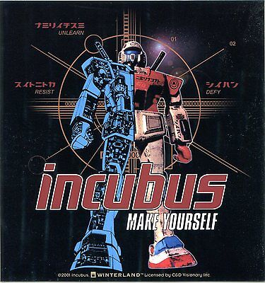 INCUBUS make yourself (robot) STICKER **FREE SHIPPING** -c s1425 morning view
