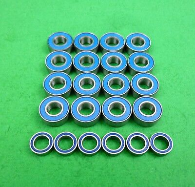 Blue ball bearing set for Tamiya TA01 cars and DF01 buggies Top Force, Manta Ray