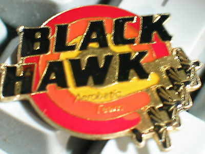 Vintage Black Hawk Areobatic Team Aircraft Pin **