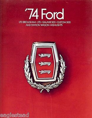 Auto Brochure - Ford - Lineup - LTD Brougham Galaxie 500 etc - Car - 1974 (AB15)