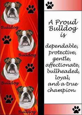 Bulldog 3_D Bookmark Dog Book Mark Dogs Bookmark With Free USA Shipping - New!!