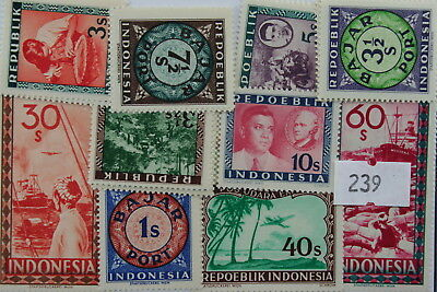 Indonesia. Old issues. 20 stamps, all different (239)