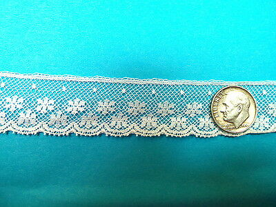 """French Heirloom Cotton Lace Edging--7/8"""" Wide White Fashion/Craft/Doll Lace 773"""