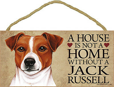 Jack Russell Terrier Wood Dog Sign Wall Plaque Photo Display A House Is Not A Ho