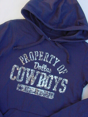 Dallas Cowboys Women's Hoodie Pullover Sweatshirt Navy Blue Metallic Sz M L NWT!