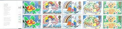 1989 GB 1st Greetings Stamps Booklet With Cylinder Number 9SC14