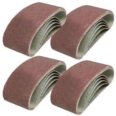 20 x Mixed Power Tool Sander Sanding Belt Belts 75mm x 457mm 40 60 80 120 Grit G