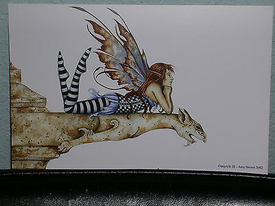 Amy Brown - Gargoyle III - Mini Print - RARE