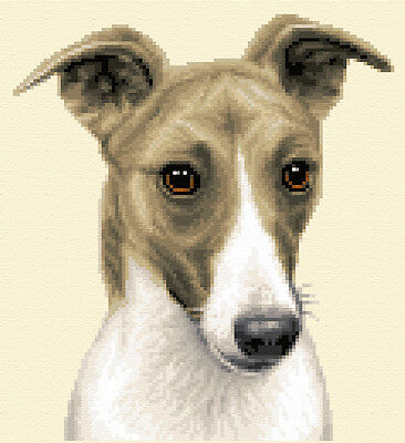 WHIPPET dog, puppy - Complete counted cross stitch kit  *Jann Designs