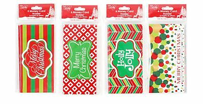 48 Piece Christmas Cards Money Card Holders Holiday Stocking Stuffers New