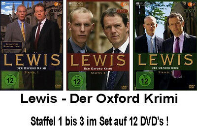 12 DVDs * LEWIS - DER OXFORD KRIMI - STAFFEL / SEASON 1 - 3 IM SET # NEU OVP &