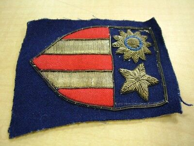 Rare WW2 China Burma India gold bullion hand stitched in country made patch