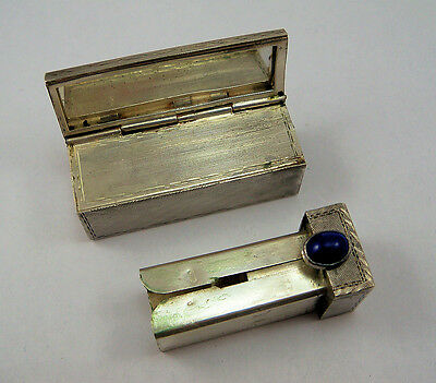 PORTA ROSSETTO VINTAGE  In Argento 800 Epoca Anni '50 OLD LIPSTICK SILVER HOLDER