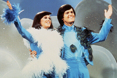 Donny Osmond, Marie Osmond Donny And Marie 24X36 Poster Blue Outfits Tv Show