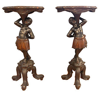 Pair Of Blackamore Tables/pedestals 15642