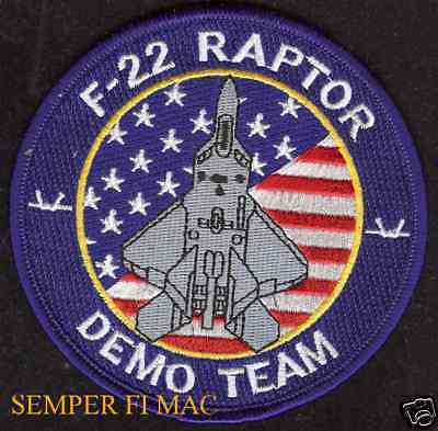 F-22 RAPTOR DEMO TEAM F22 PATCH US AIR FORCE STEALTH FIGHTER AFB WOW