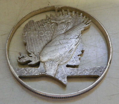 Liberty Head Silver Dollar Cut Out Medallion/coin 3196