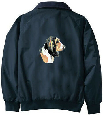 BASSET HOUND embroidered Challenger jacket ANY COLOR B