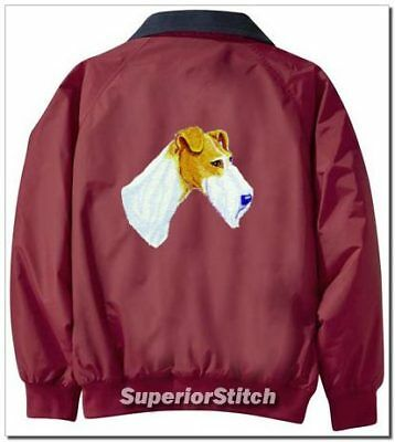 FOX TERRIER embroiderd Challenger jacket ANY COLOR B