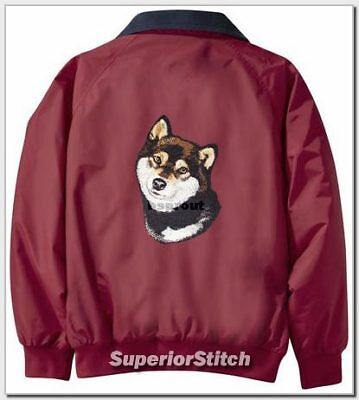 SHIBA INU embroidered Challenger jacket ANY COLOR B