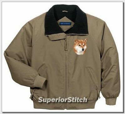 SHIBA INU embroidered challenger jacket ANY COLOR