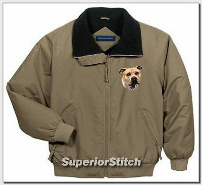 STAFFORDSHIRE TERRIER challenger jacket ANY COLOR