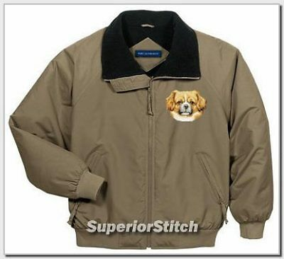 TIBETAN SPANIEL embroidered challenger jacket ANY COLOR