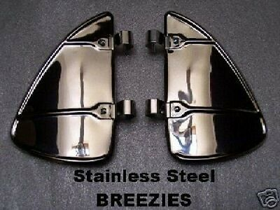 CHROME POLISHED STAINLESS VENT WINDOW BREEZIES GREAT PRICE FREE SHIPPING