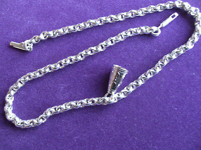 ANKLET,925 STERLING SILVER  WITH BELL CHARM No20.bell is silent.OUTSTANDING ITEM