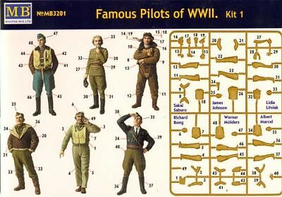 Master Box 3201 WWII Famous Pilots 1/32 Scale Model Kit