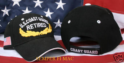 Embroidered Us Coast Guard Vip Retired Hat Uscg Cap Beanie Ret Wowcg