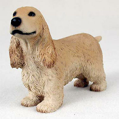 English Cocker Spaniel Hand Painted Dog Figurine Statue