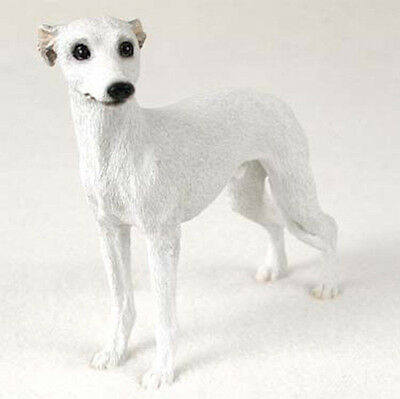 Whippet Hand Painted Collectible Dog Figurine White