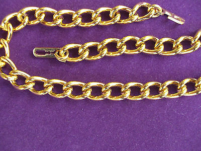 ANKLET, 10th 9ct ROLLED GOLD WELDED LINK HEAVY STRONG ANKLET. 7.5mm WIDE