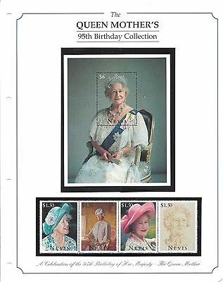 Stamps, The Queen Mother's 95th Birthday Collection, Nevis