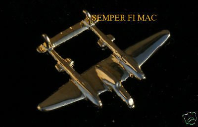 Made In Usa P-38 Lighting Ww2 Lockheed Gold Pin Us Army Air Corps Air Force Reno
