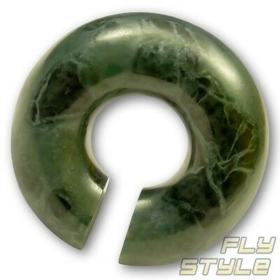 Ohrgewicht Marmor stein stone ohrring ear lobe weight marble piercing ring horn